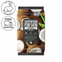 FARMSKIN Moisturizing Coconut Facial Cleansing Wipes (Superfood)