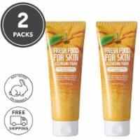 FARMSKIN 2 Packs Orange Facial Cleansing Foam For Normal Skin (Freshfood)
