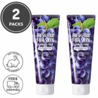 FARMSKIN 2 Packs Grape Facial Cleansing Foam For Sensitive Skin (Freshfood)