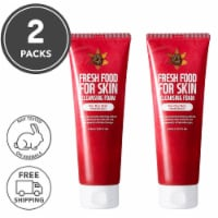 FARMSKIN 2 Packs Pomegranate Facial Cleansing Foam For Dry Skin (Freshfood)