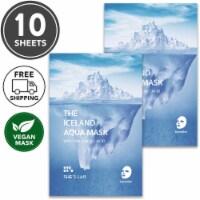 She's Lab 10 Packs Hyaluronic Acid Iceland Aqua Vegan masks - One Size