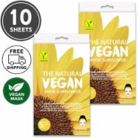 She's Lab 10 Packs Hydrating Sun Flower Vegan Masks - One Size