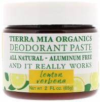 Tierra Mia Organics  Deodorant Paste Lemon Verbena - 2 fl oz