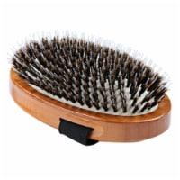 Bass Brushes- Shine & Condition Pet Brush (Palm Style /Dark Finish) - 1