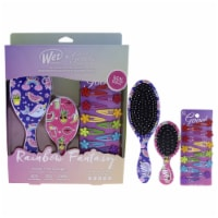 Wet Brush Rainbow Fantasy Goody Kit 1 Mini Detangler, 1 Original Detangler, 12x Flower Snap C