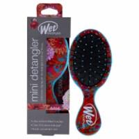 Wet Brush Pro Mini Detangler Hyper Floral Brush  Teal Hair Brush 1 Pc