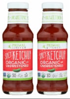 Primal Kitchen Spicy Ketchup Organic and Unsweetened 11.3 Ounce | 2-pack - 2 Bottles/ 11.3 Ounce