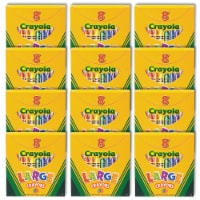 Crayola Large 8-Count Crayon Classpack  - 12 Boxes