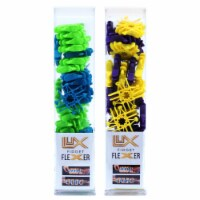 Lux Blox Fidget Flexers - Teal/Green and Purple/Yellow - 1