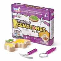 Hand2Mind Dig & Display Fossil & World of Gemstones Dig Kits - 2 Dig Kits - 1