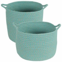 Colonial Mills Outdoor Storage Baskets - Set of 2 - 1