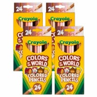Crayola Colors of the World 24-Count Colored Pencils - Set of 4