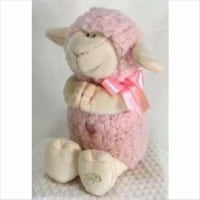 Stephan Baby 133813 Toy Plush Musical Lamb Jesus Loves Me 11 In. PinkPack of 4 - 1