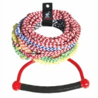 """Airhead 75' Long 8 Color Coded Section Water Skiing Training Rope w/ 13"""" Handle - 1 Unit"""