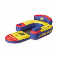 Airhead AHBL-3 Bimini Lounger II Inflatable Pool Lake Lounge Raft, (1 Person)