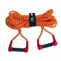 Airhead 75' Long Double Handle Water Skiing Training Rope w/ Comfortable Handles