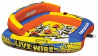 Airhead AHLW-3 Live Wire 3 Inflatable 1-3 Rider Boat Towable Lake Water Tube - 1 Unit