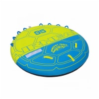 """Airhead 95"""" Deck Shell Inflatable 4 Rider Towable Boating Lake Tube Water Raft - 1 Unit"""