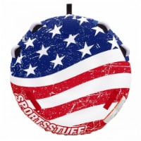 Sportsstuff Stars and Stripes Inflatable 1 Rider Watersports Towable Deck Tube - 1 Unit