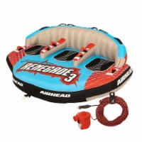 Airhead Renegade 3 Person Inflatable Towable Water Tube Kit w/ Boat Rope & Pump - 1 Unit