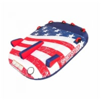 SportsStuff Stars & Stripes 2 Rider Towable Inflatable Tube with Nylon Cover - 1 Unit
