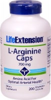 Life Extension L-Arginine Vegetarian Capsules 700mg - 200 ct