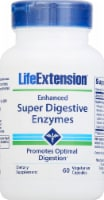 Life Extension Enhanced Super Digestive Enzymes Vegetarian Capsules 140mg 60 Count