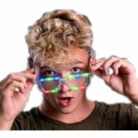 Blinkee PBTMS Light Up Pixel Brick Transparent Sunglasses, Multi Color - 1
