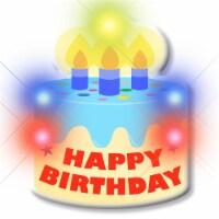 Blinkee HBDBC-Cake Blinking Light Up Happy Birthday Cake Body Light Pins - 1