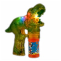 Blinkee FLDDBGGB Flashing LED Dinosaur Bubble Gun