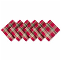 DII Tango Red Plaid Napkin (Set of 6) - 1