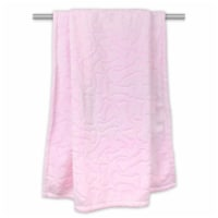 Design Imports CAMZ33211 Pink Embossed Bone Print Pet Blanket