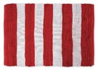 Dii Red/White Stripe Rag Rug 4X6 - 1