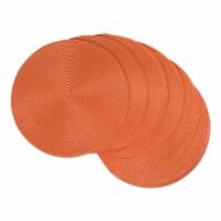 DII Orange Round Polypropylene Woven Placemat (Set of 6) - 1