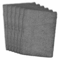 DII Gray Essential Microfiber Dishtowel (Set of 6) - 1
