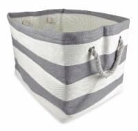 DII Paper Bin Stripe Gray Rectangle Large - 1
