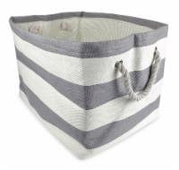DII Paper Bin Stripe Gray Rectangle Small - 1