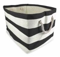 DII Paper Bin Stripe Black Rectangle Large - 1