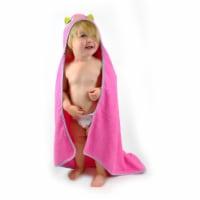 DII Kids Hooded Towel Pink Owl - 1