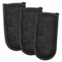 Design Imports Black Terry Pan Handle Covers (Set of 3)
