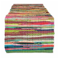 Design Imports CAMZ34380 14 x 72 in. Multi-Color Chindi Rag Table Runner