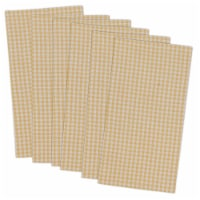 DII Yellow Small Check Napkin (Set of 6) - 1