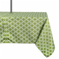 DII Green Lattice Outdoor Tablecloth With Zipper