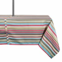 DII Summer Stripe Outdoor Tablecloth With Zipper