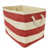 DII Paper Bin Stripe Tango Red Rectangle Large - 1