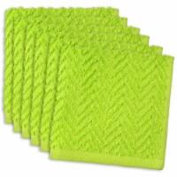 DII Lime Zigzag Dishcloth (Set of 6) - 1