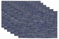 DII Blue Tweed PVC Placemat (Set of 6) - 1