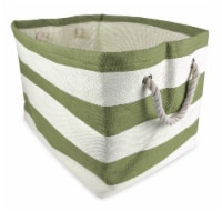 DII Paper Basket Stripe Olive Green Rectangle Large - 1