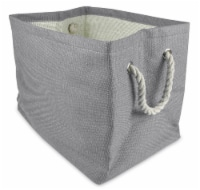 Design Imports 17 x 15 x 12 in. Paper Solid Rectangle Basket, Grey - Large - 1