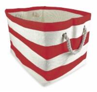 DII Paper Basket Stripe Tango Red Rectangle Large - 1